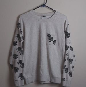 Empyre Gray SweatShirt With Black Roses(S)
